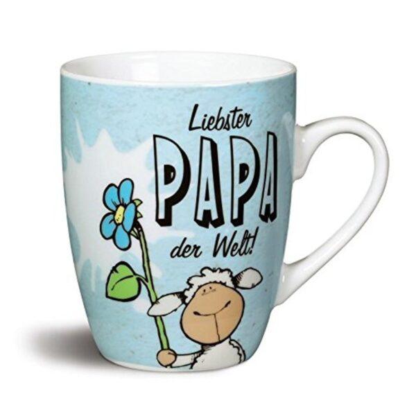 """Порцеланова чаша с надпис """"Liebster PAPA der Welt!"""" - Детски чаши - За детето - Детски прибори за хранене"""