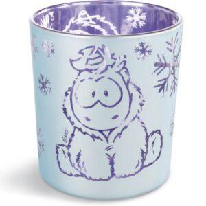 Поставка за свещ Снежен Еднорог - бяла/лилава - За детето - Аксесоари и текстил за детска стая