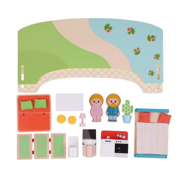 Преносима дървена къщичка за игра - Детски играчки - Дървени играчки