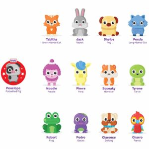 Пяна за моделиране с играчка - парти животинки - POP дисплей 12 броя - Детски играчки - STEM Играчки