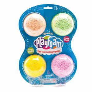 Пяна за моделиране в искрящи цветове - 4 броя - Детски играчки