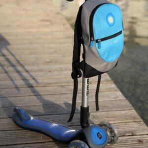 Раница за тротинетка и колело - Светло синя - Играчки за навън - Аксесоари за велосипеди и тротинетки
