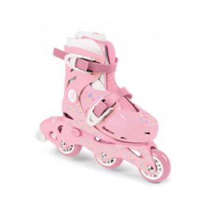 Ролери за момичета номер 27-30 розови - Играчки за навън - Ролери и ролкови кънки