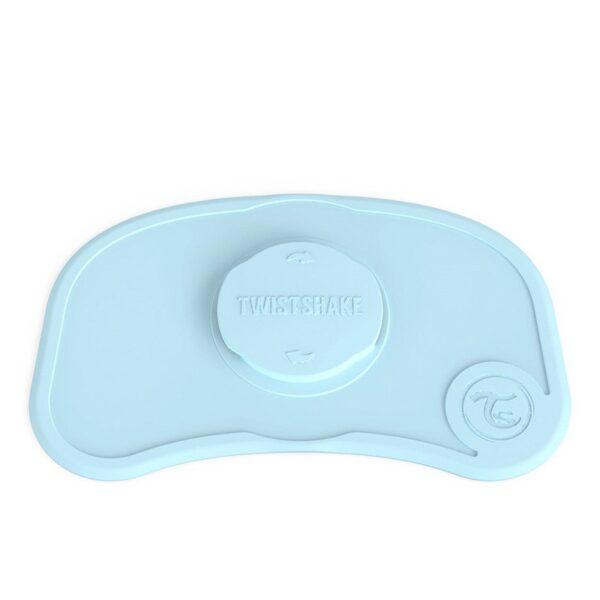 Самозалепваща се подложка за хранене Twistshake Мини 6+ месеца синя - За бебето - Хранене - Прибори за хранене на бебета
