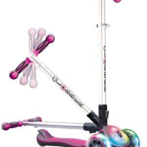 Сгъваема тротинетка Elite Light със светещи гуми и платформа - Розова - Тротинетки - Играчки за навън - Тротинетки с 3 колела за деца