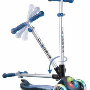 Сгъваема тротинетка Elite Light със светещи гуми и платформа - Синя - Тротинетки - Играчки за навън - Тротинетки с 3 колела за деца