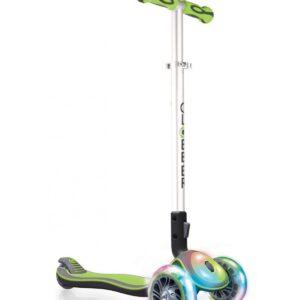 Сгъваема тротинетка Elite Light със светещи гуми и платформа - Зелена - Тротинетки - Играчки за навън - Тротинетки с 3 колела за деца