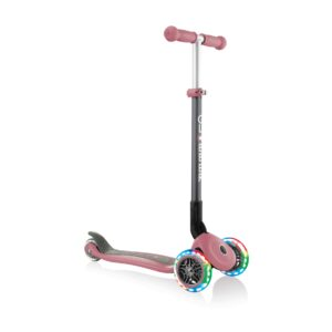 Сгъваема тротинетка със светещи гуми Globber Primo Foldable Lights, Пепел от рози - Тротинетки - Играчки за навън - Тротинетки с 3 колела за деца