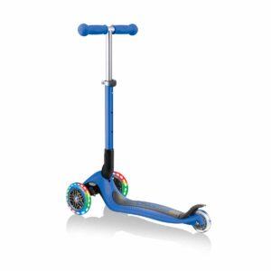Сгъваема тротинетка със светещи колела, Globber Junior - 2+ г., синя - Тротинетки - Играчки за навън - Тротинетки с 3 колела за деца