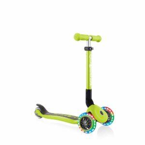 Сгъваема тротинетка със светещи колела, Globber Junior - 2+ г., зелена - Тротинетки - Играчки за навън - Тротинетки с 3 колела за деца