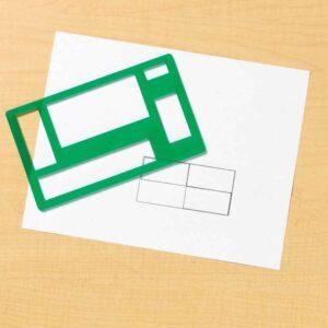 Шаблони за рисуване - Основни геометрични фигури - Детски играчки - Ученически пособия - Образователни играчки - Комплекти за рисуване