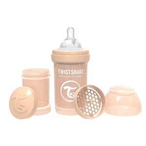 Шише против колики за бебета Twistshake 180 мл бежово - За бебето - Хранене - Бебешки шишета и биберони