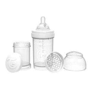 Шише против колики за бебета Twistshake 180 мл бяло - За бебето - Хранене - Бебешки шишета и биберони