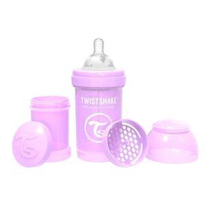 Шише против колики за бебета Twistshake 180 мл лилаво - За бебето - Хранене - Бебешки шишета и биберони