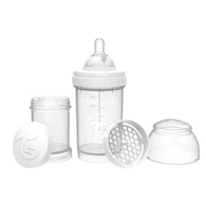 Шише за бебета против колики Twistshake 260 мл. бяло - За бебето - Хранене - Бебешки шишета и биберони