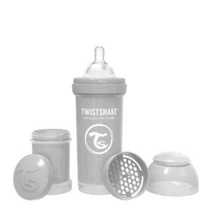 Шише за бебета против колики Twistshake 260 мл.сиво - За бебето - Хранене - Бебешки шишета и биберони