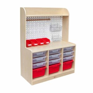 Шкафче за съхранение на детски играчки и инструменти - Мебели и играчки за детски градини и центрове - Мебели за детски градини и центрове - Творческо и музикално обучение за деца