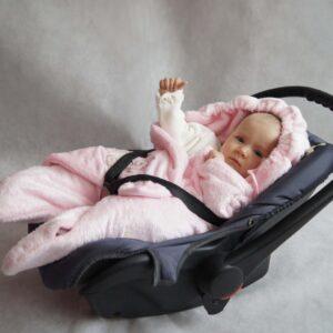 Спално чувалче за седалка - Розово - За бебето - Аксесоари за детска стая - Завивки / Одеяла