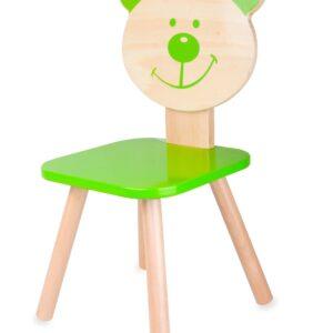 Столче мече - зелено - Детски играчки - Къщи за игра, маси и столове - За детето - Аксесоари и текстил за детска стая - Дървени играчки
