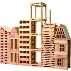 Строител от дървени блокчета - 250 части - Детски играчки - Образователни играчки - Дървени играчки