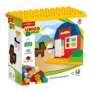 Строител за деца - 40 части, Unico - Детски играчки - Конструктори