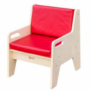Тапицирано детско столче с облегалка - Мебели и играчки за детски градини и центрове - Мебели за детски градини и центрове