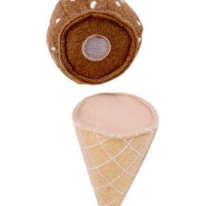 Текстилни сладоледи за игра - Детски играчки - Кухни за игра - комплекти и консумативи - Дървени играчки