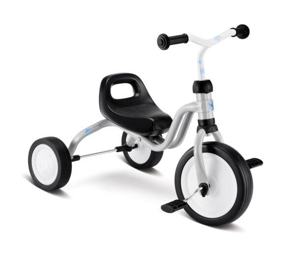 Триколка с педали за деца над 18 месеца PUKY FITSCH сребриста - Играчки за навън - Детски триколки и четириколки