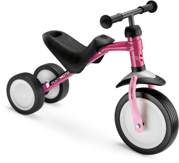 Триколка за деца с регулируема седалка - PUKYMOTO розова - Играчки за навън - Детски триколки и четириколки