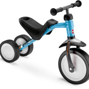Триколка за деца с регулируема седалка - PUKYMOTO синя - Играчки за навън - Детски триколки и четириколки