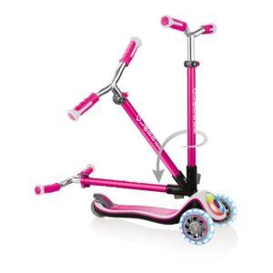 Тротинетка Elite Prime със светещи колела - Розова - Тротинетки - Играчки за навън - Тротинетки с 3 колела за деца