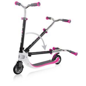 Тротинетка Flow Foldable 125 - Бяла / Розова - Тротинетки - Играчки за навън - Тротинетки с 2 колела за големи и деца