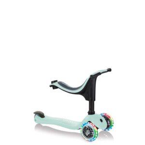 Тротинетка Globber 4 в 1 със стабилизатор, GO UP Sporty Lights - Ментово зелено - Тротинетки - Играчки за навън - Tротинетки със седалка 4 в 1