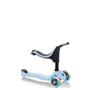 Тротинетка Globber 4 в 1 със стабилизатор, GO UP Sporty Lights - Пастелно синя - Тротинетки - Играчки за навън - Tротинетки със седалка 4 в 1
