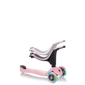 Тротинетка Globber 4 в 1 със стабилизатор, GO UP Sporty Lights - Пепел от рози - Тротинетки - Играчки за навън - Tротинетки със седалка 4 в 1