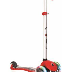 Тротинетка Primo Fantasy Light със светещи гуми - Червена състезателна щампа - Тротинетки - Играчки за навън - Тротинетки с 3 колела за деца