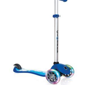 Тротинетка Primo Fantasy Light със светещи гуми - Синя с щампа ракета - Тротинетки - Играчки за навън - Тротинетки с 3 колела за деца