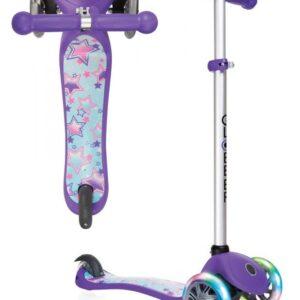 Тротинетка Primo Fantasy Light със светещи колела - Лилава щампа звездички - Тротинетки - Играчки за навън - Тротинетки с 3 колела за деца