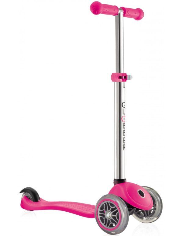Тротинетка Primo с регулируема височина - Неоново розово - Тротинетки - Играчки за навън - Тротинетки с 3 колела за деца