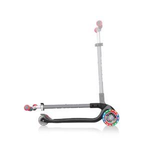 Тротинетка с 3 колела Globber Master Lights, черно-червена - Тротинетки - Играчки за навън - Тротинетки с 3 колела за деца