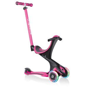 Тротинетка с родителски контрол 5 в 1 Globber Go Up Comfort Lights - розова - Тротинетки - Играчки за навън - Тротинетки с 3 колела за деца - Tротинетки 5 в 1