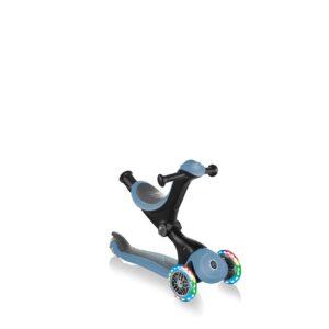 Тротинетка с родителски контрол 5 в 1, GO UP Deluxe Lights - Пастелно синя - Тротинетки - Играчки за навън - Tротинетки 5 в 1