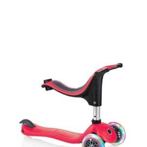 Тротинетка - триколка EVO 4 в 1 Light за деца със светещи колела - Червена - Тротинетки - Играчки за навън - Тротинетки с 3 колела за деца - Tротинетки със седалка 4 в 1