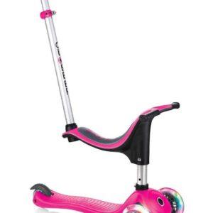 Тротинетка - триколка EVO 4 в 1 Light за деца със светещи колела - Розова - Тротинетки - Играчки за навън - Тротинетки с 3 колела за деца - Tротинетки със седалка 4 в 1
