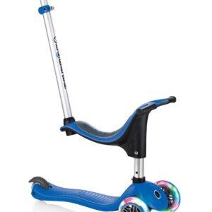 Тротинетка - триколка EVO 4 в 1 Light за деца със светещи колела - Синя - Тротинетки - Играчки за навън - Тротинетки с 3 колела за деца - Tротинетки със седалка 4 в 1