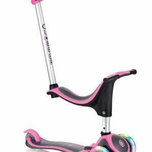 Тротинетка - триколка EVO 4 в 1 Plus Light със светещи колела и двуцветна платформа - Розова - Тротинетки - Играчки за навън - Тротинетки с 3 колела за деца - Tротинетки със седалка 4 в 1