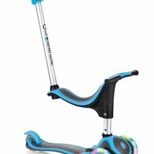 Тротинетка - триколка EVO 4 в 1 Plus Light със светещи колела и двуцветна платформа - Синя - Тротинетки - Играчки за навън - Тротинетки с 3 колела за деца - Tротинетки със седалка 4 в 1