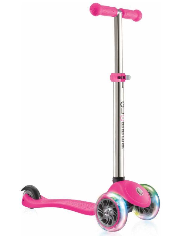 Тротинетка за деца Primo Lights със светещи гуми и регулируема височина - Розова - Тротинетки - Играчки за навън - Тротинетки с 3 колела за деца
