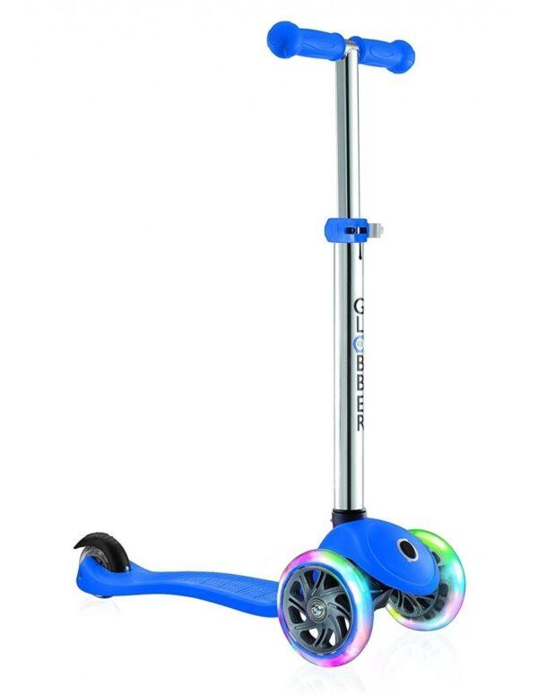 Тротинетка за деца Primo Lights със светещи гуми и регулируема височина - Синя - Тротинетки - Играчки за навън - Тротинетки с 3 колела за деца