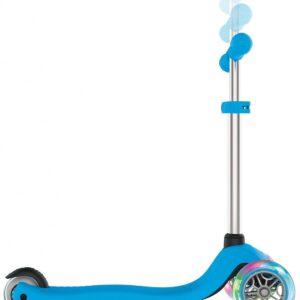 Тротинетка за деца Primo Lights със светещи гуми и регулируема височина - Светло синя - Тротинетки - Играчки за навън - Тротинетки с 3 колела за деца